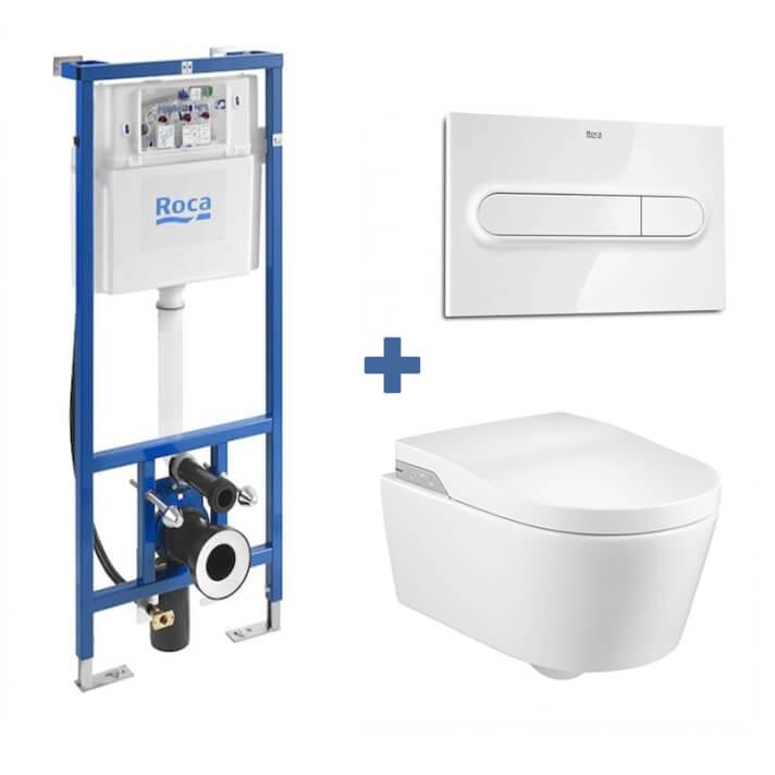 Pack smart toilet In-Wash sospeso Inspira ROCA
