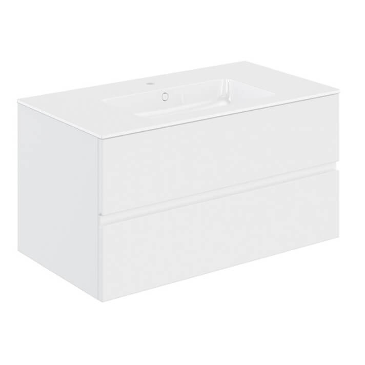 Mueble 2 cajones con lavabo 100,5cm Mood COSMIC