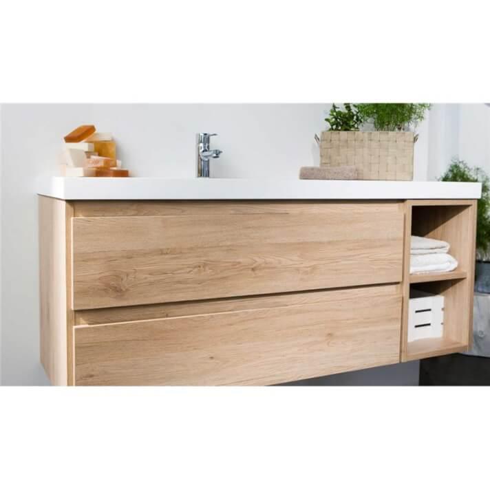 Mueble Life 2 cajones + módulo sin lavabo B10