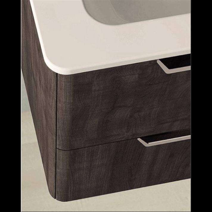 Mueble de baño con lavabo cerámico dos senos 120cm Life ...