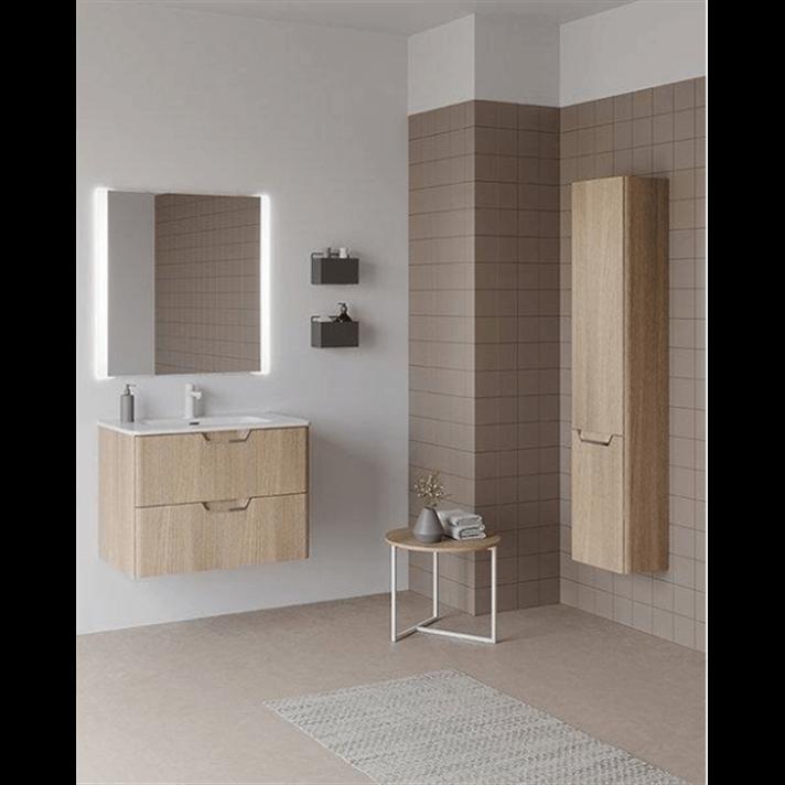 Mueble de baño 2 cajones con lavabo cerámico 100cm Life Royo