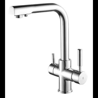 100/% sin plomo tubo de 1//4 acero inoxidable SUS304 Grifo para fregadero de cocina ESOW filtro de agua para /ósmosis inversa y filtro acabado negro mate