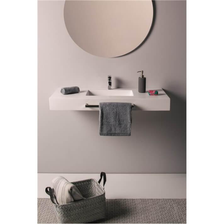 Lavabo suspendido corto toallero - SAONA NATUGAMA