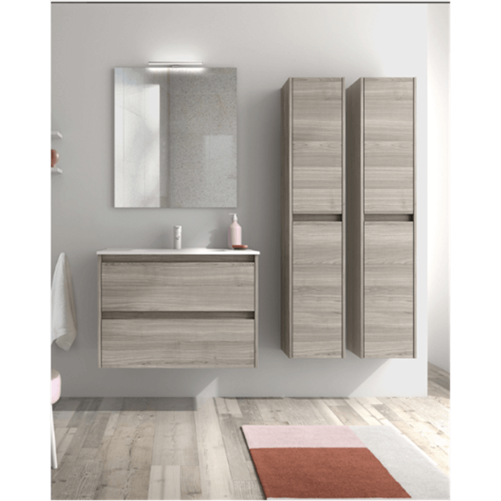 Mueble de baño 2 cajones con lavabo cerámico Sansa Royo