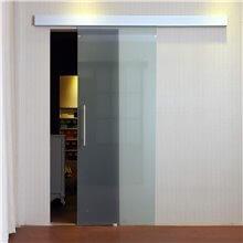 Porta scorrevole in vetro satinato 205x77,5 Homcom
