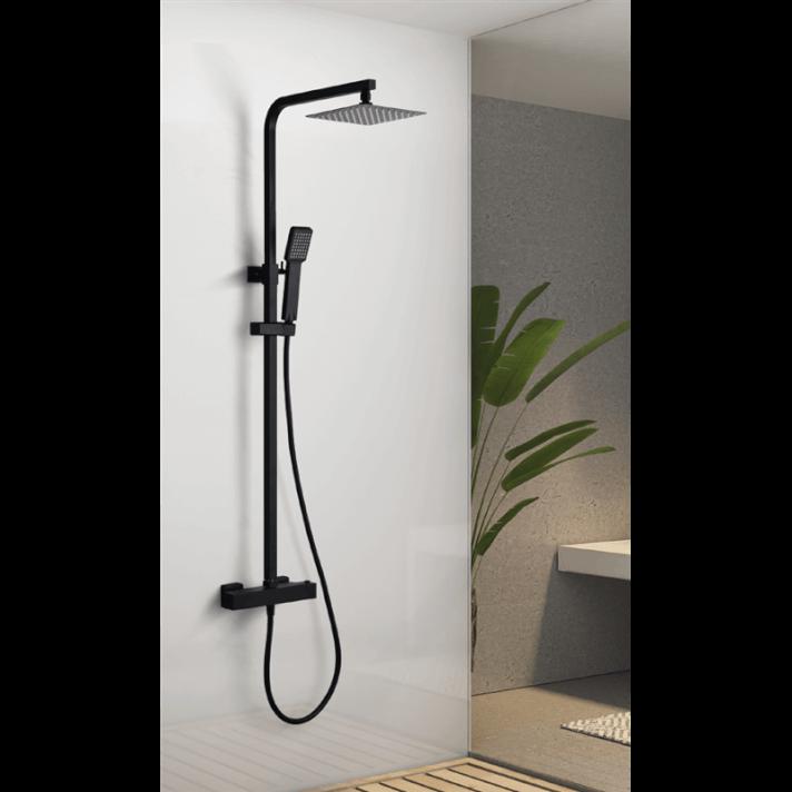 Columna termostática ducha negro mate Vigo Imex