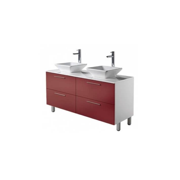 Meuble TWIN CEB rouge Sanindusa