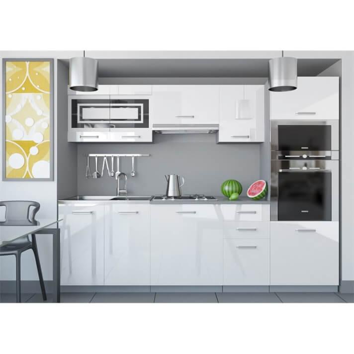 Cozinha 240 cm branco brilhante Paula - TARRACO