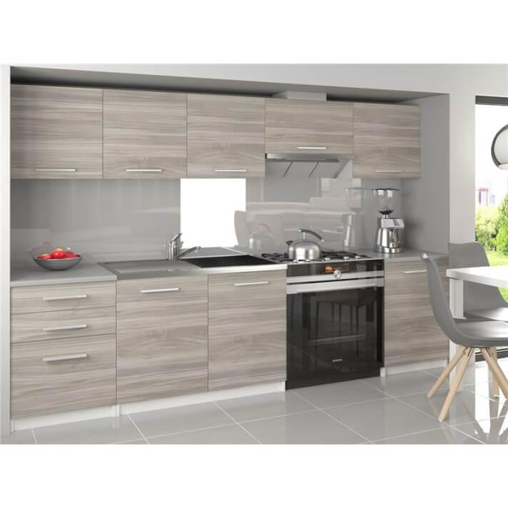 Cocina 240cm gris Uniqa Tarraco