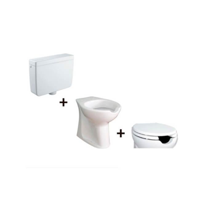 Inodoro completo cisterna alta con apertura frontal Accessible Tegler