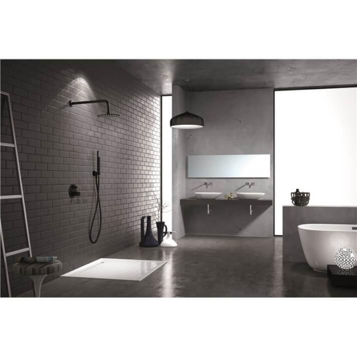 Conjunto de ducha empotrada Negro Mate Milos Imex
