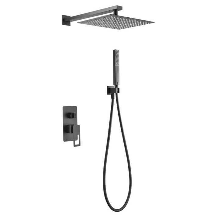 Conjunto de duche para encastrar preto mate Suecia - IMEX