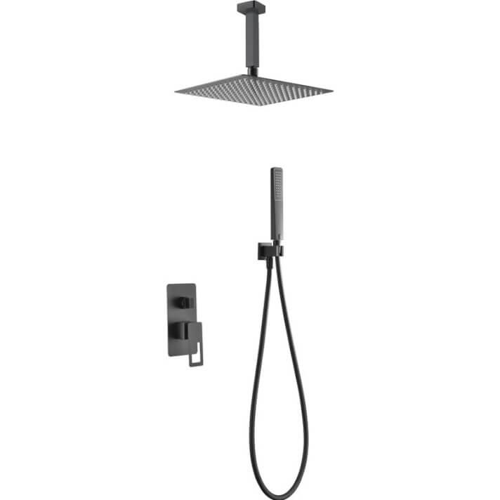 Conjunto de ducha Estocolmo Negro Mate Imex