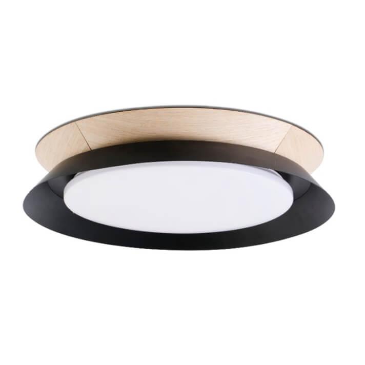 Plafoniera nera con LED Tender Faro