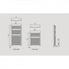Sèche-serviettes hydraulique Requena Salgar