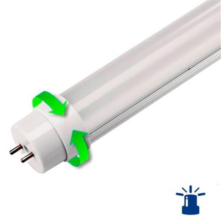 Tubo LED T8 de 18W alumínio com função de emergência - MasterLed