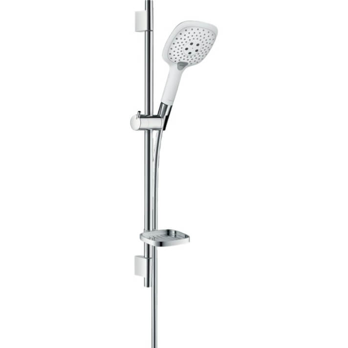 Set de ducha 150 3jet Blanco/Cromo Raindance Select E Hansgrohe