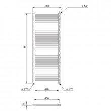 Radiador toallero Talia WF 180 Ferroli
