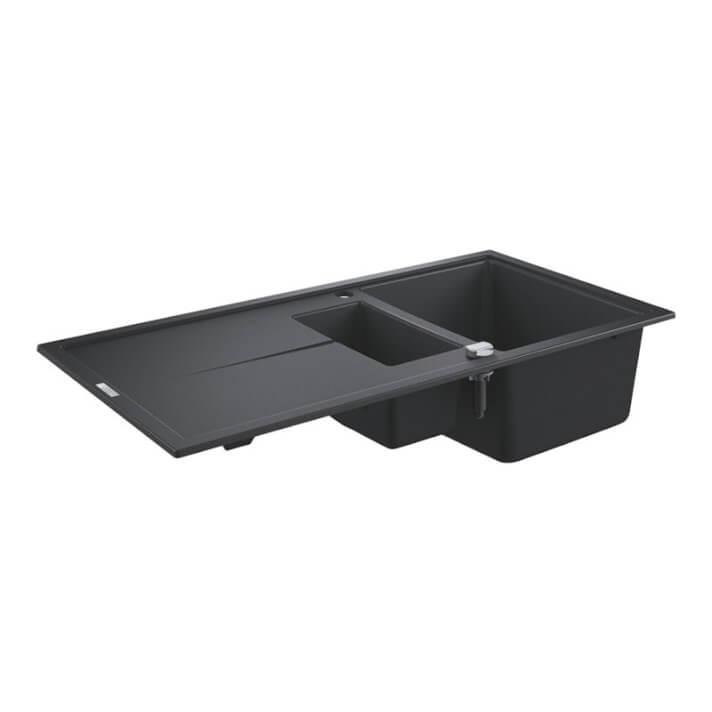 Fregadero composite con cubeta reducida 100x50 negro granito K400 Grohe