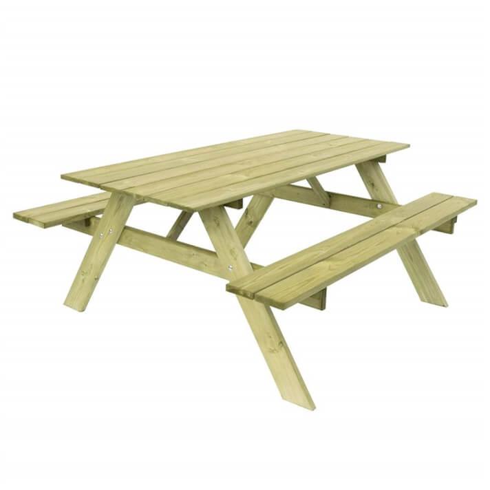 Tavolo da picnic in legno per 6 commensali Essential Gardiun