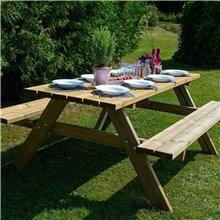 Tavolo da picnic in legno per 6 commensali...