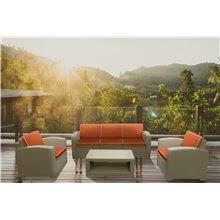Set di mobili color grigio e terracotta di 4...