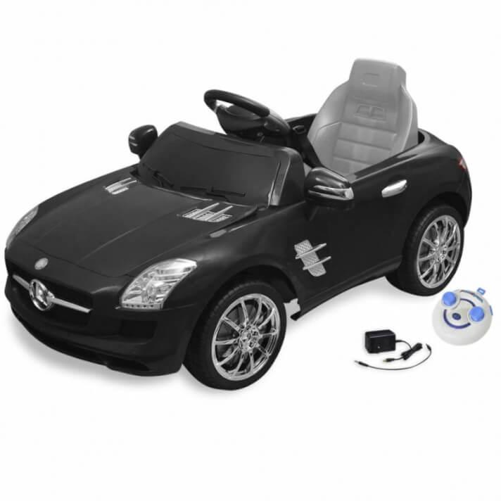 Coche correpasillos eléctrico SLS AMG 6 V Negro Vida XL