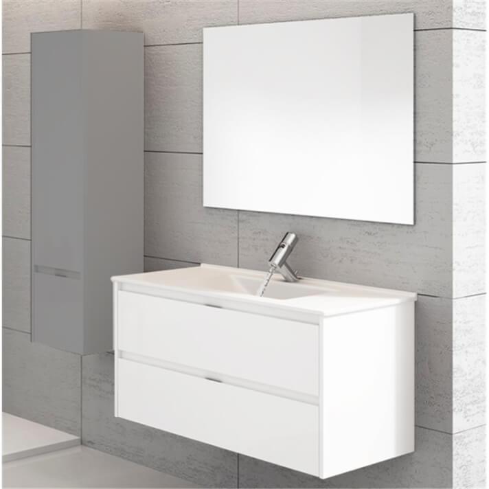 Mueble con lavabo Blanco brillo Ibiza 80 TEGLER