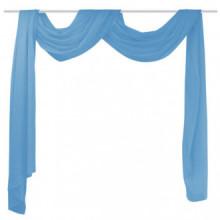 Voilage drapé turquoise 140 x 600 cm