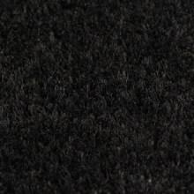Felpudo de fibra de coco negro 2 unidades 24 mm...