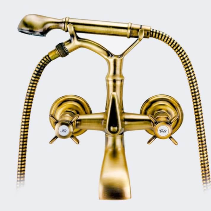 Rubinetto miscelatore Lux per vasca da bagno con doccino Lux PARMA