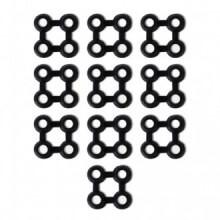 Conectores de alfombras10 unids goma negros...