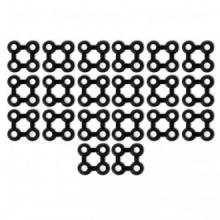 Conectores de alfombra 20 unids goma negros...
