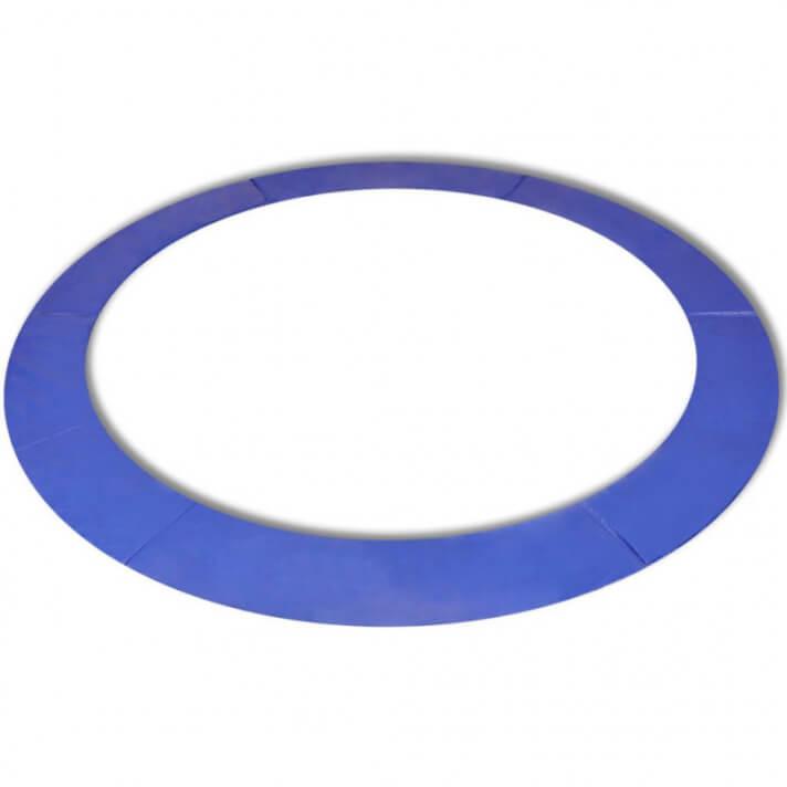 Alfombrilla de seguridad de cama elástica redonda 3,96m azul PE Vida XL