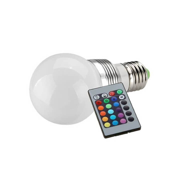 4 Bombillas LED RGB 3W