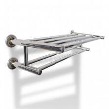 Toallero de acero inoxidable 6 tubos Vida XL
