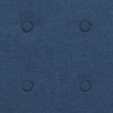 Sillón de acero y tela azul Vida XL