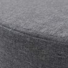 Taburete redondo de tela 56x40cm gris oscuro...