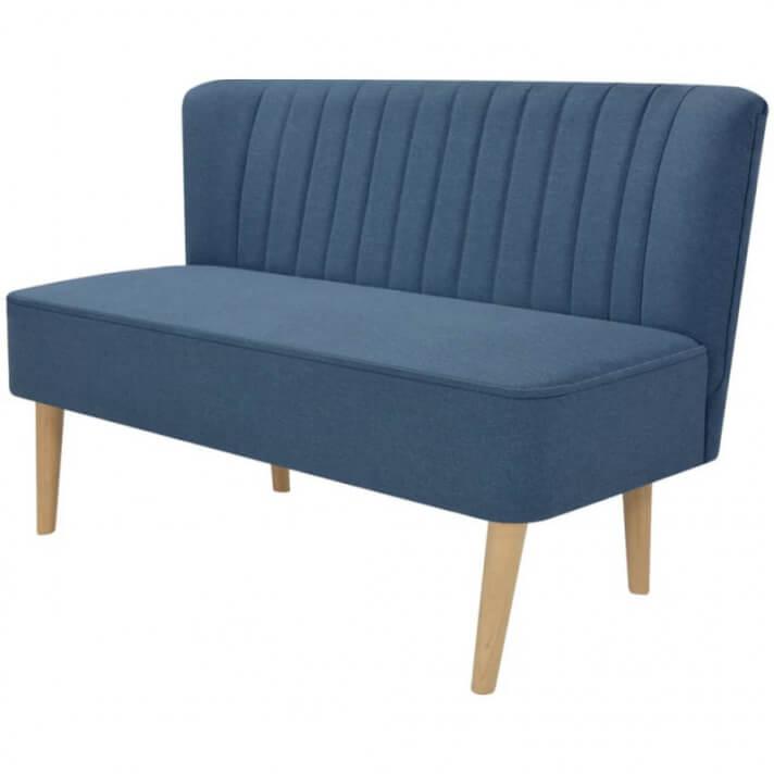 Sofá de tela azul 117x55,5x77cm Vida XL