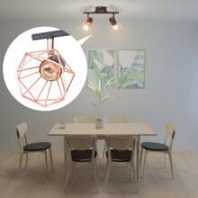 vidaXL Plafonnier avec 2 ampoules LED à...