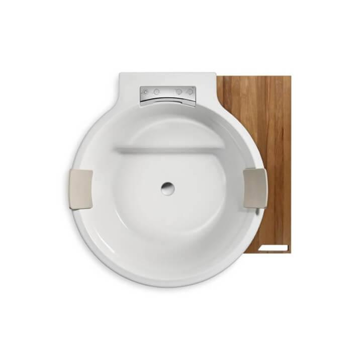 Baignoire ROCA Circulaire avec estrade en bois