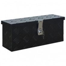 Caja de aluminio 485x140x200mm negra Vida XL