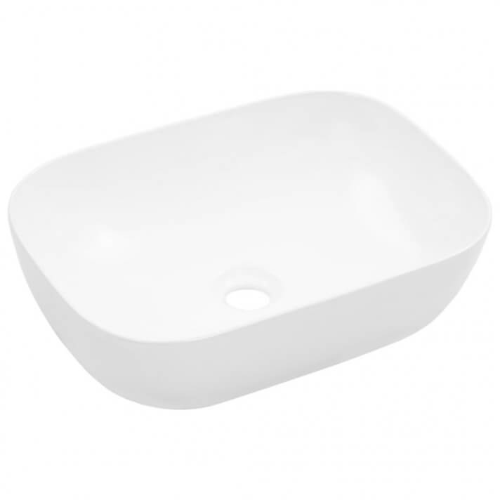 Lavabo sobre encimera rectangular de cerámica blanco 45cm Vida XL