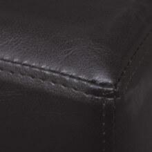 Sofá banco de cuero artificial colormarrón...