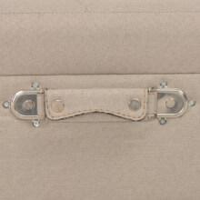 Taburete de almacenamiento 40cm beige de tela...