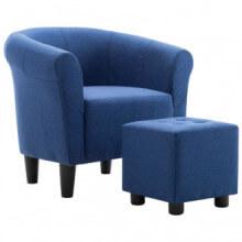 Set de sillón con taburete reposapiés 2 piezas...
