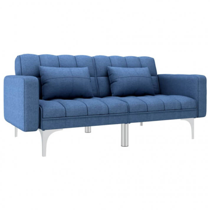 Sofá cama de tela azul Vida XL