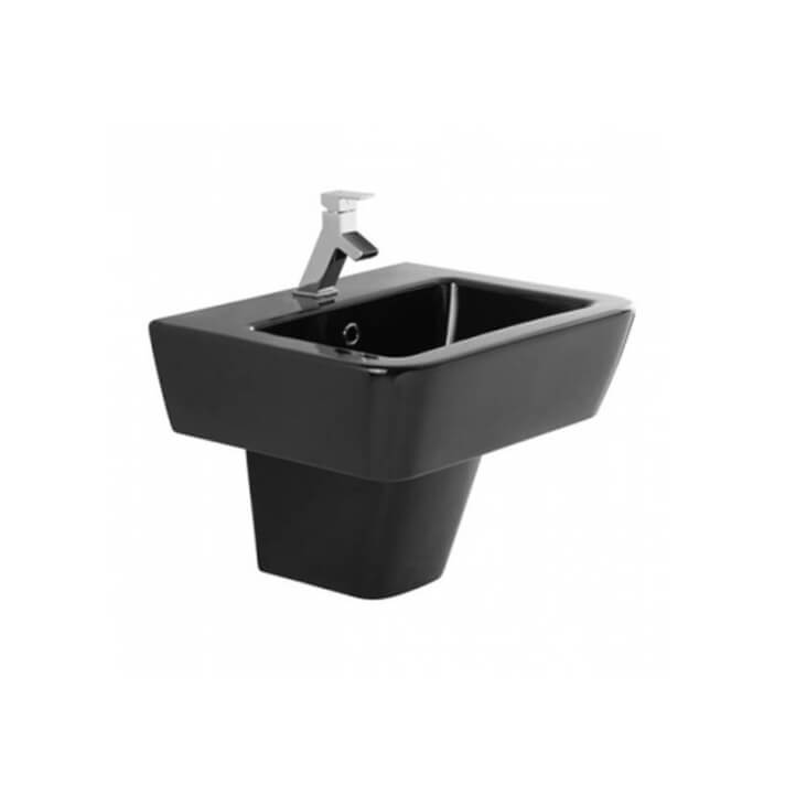Lavabo negro semi pedestal ADVANCE de 55 cm Unisan