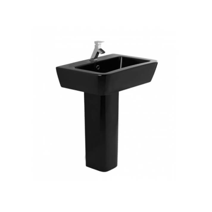 Lavabo nero ADVANCE 65 con piedistallo