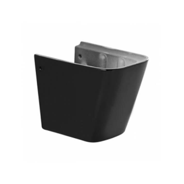 Semipedestal Advance preto para lavatório - Unisan Sanindusa